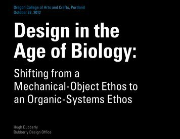 Design in the Age of Biology - Oregon College of Art and Craft