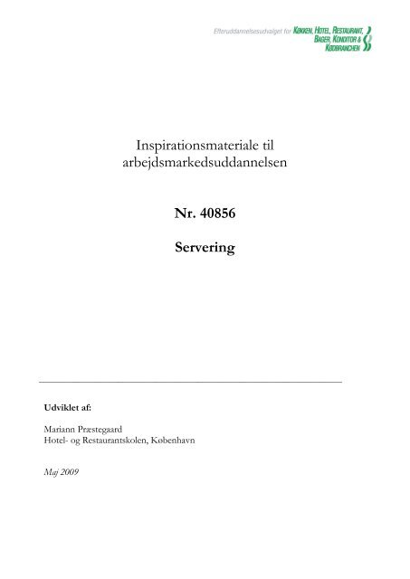 40 856 Servering - khru.dk