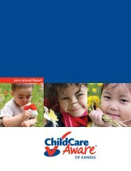 2010 Annual Report - Child Care Aware® of Kansas