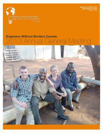 English - World of EWB - Engineers Without Borders Canada