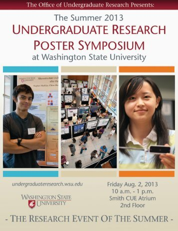 2013 Abstract Booklet - University College - Washington State ...