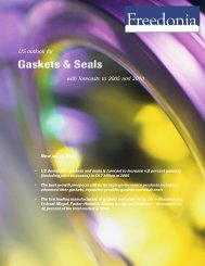Gaskets & Seals - The Freedonia Group