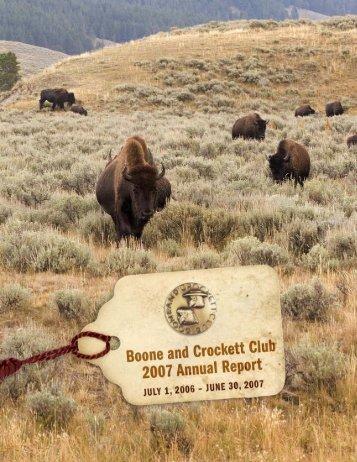 2007 Annual Report PDF - Boone and Crockett Club