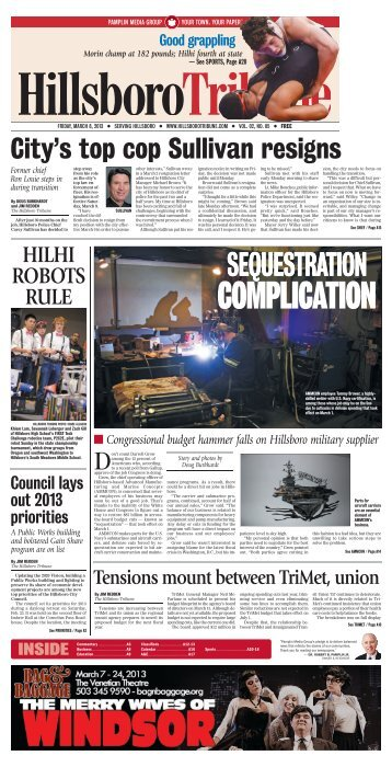 SEQUESTRATION - Portland Tribune