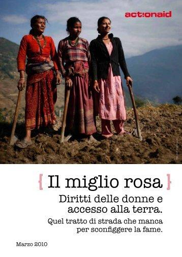 Il Miglio Rosa _ Diritti delle Donne e accesso alla Terra - ActionAid