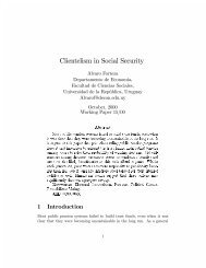 Clientelism in Social Security - ResearchGate