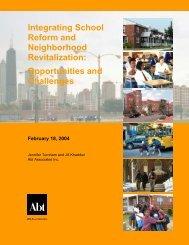 Integrating School Reform and Neighborhood ... - Abt Associates