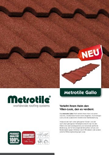 METROTILE Gallo.pdf - GMS Dach