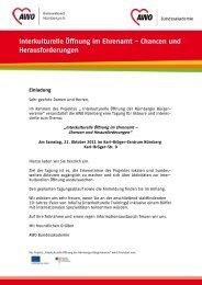Interkulturelle Öffnung im Ehrenamt - AWO Kreisverband Nürnberg e ...