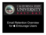 Email Retention Overview Presentation for Entourage