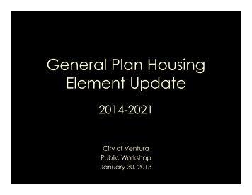 General Plan Housing Element Update - City Of Ventura