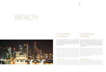 Private Banking in Singapur Private Banking in Singapore