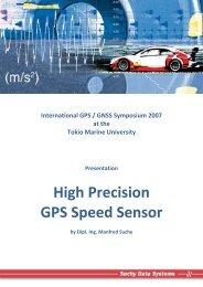 High Precision GPS Speed Sensor - Suchy Data Systems GmbH