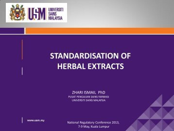 Standardization of Herbal Extract - BPFK