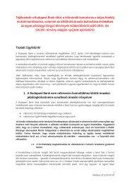 Tájékoztató a Budapest Bank által, a kölcsönök kamatai és a teljes ...