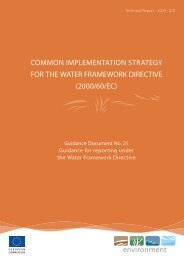 Guidance for reporting under the WFD - CIRCABC - Europa