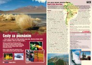 Poznávací zájezdy - Jižní Amerika, Evropa - Sport-S