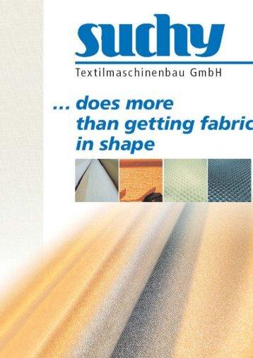 SUCHY Textilmachinenbau GmbH brochure - Suchy ...