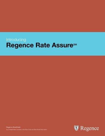 Regence Rate AssureSM - Regence BlueShield
