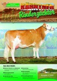 info 3 . 2 0 0 9 - Kärntner Rinderzuchtverband