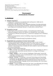Thesenpapier Postmoderne Literatur - horn-netz.de