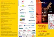 KRONACH LEUCHTET - Kronach Creativ
