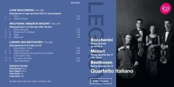 Boccherini - International Classical Artists