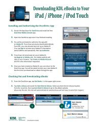 iPad / iPhone / iPod Touch - Kent District Library