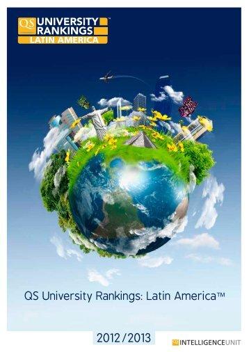 QS University Rankings: Latin America - Tecnológico de Monterrey ...