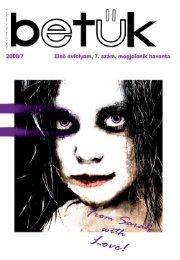BeTűK – A DE BTK HÖK lapja – 2008. 7. - DE-BTK HÖK - Debreceni ...