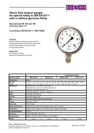Heavy Duty pressur gauges for special safety to DIN EN 837-1 with ...