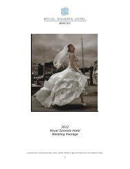 2012 Royal Sonesta Hotel Wedding Package