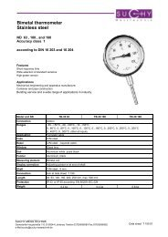 Bimetal thermometer Stainless steel - Suchy Messtechnik