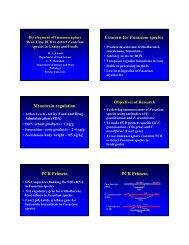 Concern for Fusarium species Mycotoxin ... - Purdue University