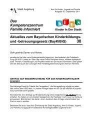 Das Kompetenzzentrum Familie informiert - Kinderbetreuung in ...