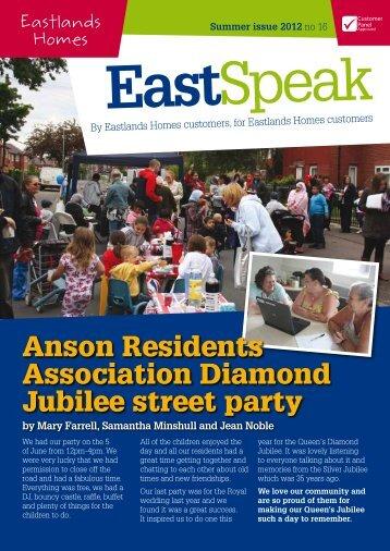 Eastspeak Newsletter Summer 2012 - Eastlands Homes