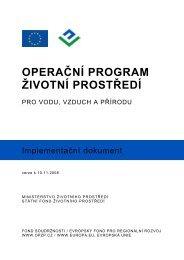 Implementační dokument OPŽP - Operační program Životní prostředí