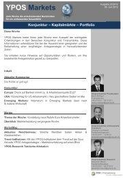 YPOS Markets KW23/2012 - YPOS Finanzplanung GmbH