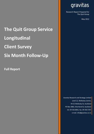 The Quit Group Service Longitudinal Client Survey - Quitline
