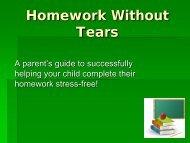 PowerPoint for Homework w/o Tears