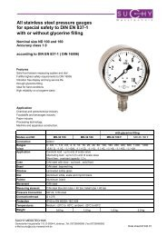 stainless steel pressure gauges for special safety to DIN EN 837-1 ...