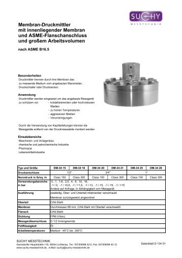 Kat-Druckmittler CD2011 - Suchy Messtechnik