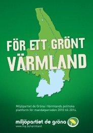 handlingsprogram för mandatperioden här - Miljöpartiet de gröna