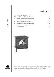Manuale - Jøtul stoves and fireplaces