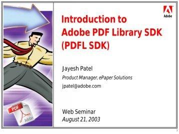 ADOBE PDF LIBRARY SDK DOWNLOAD