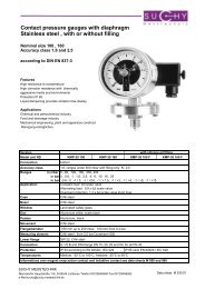 Contact pressure gauges with diaphragm Stainless steel , with or ...