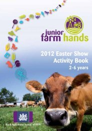 2012 Easter Show Activity Book
