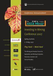 Investing in Mining Conference 2007 - Sydney Mineral Exploration ...
