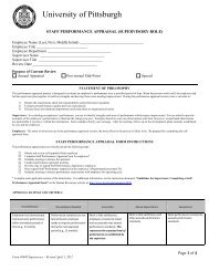 Staff Performance Appraisal Form #0040 - Supervisory Role