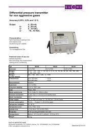 Differential pressure transmitter for non aggressive gases